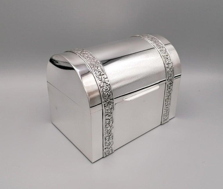 20th Century Italian Silver Jewelry box For Sale 2