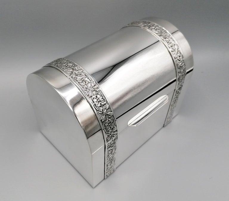 20th Century Italian Silver Jewelry box For Sale 3