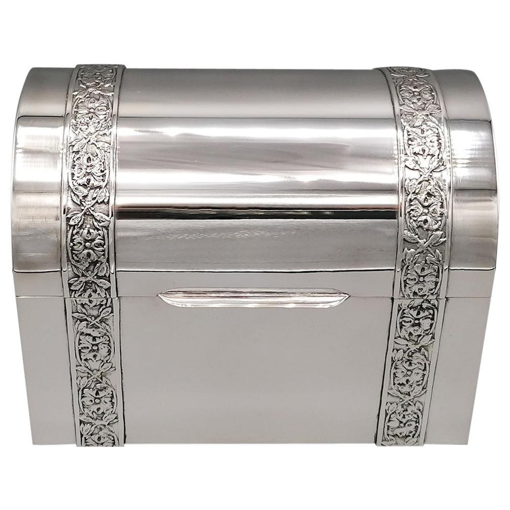 20th Century Italian Silver Jewelry box