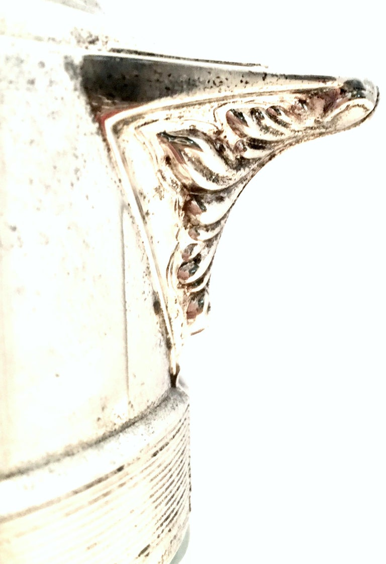 20th Century Italian Silver Plate and Cut Crystal Claret Pitcher For Sale 5