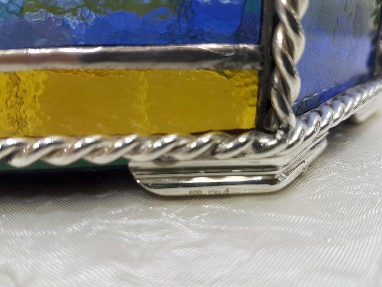 20th Century Italian Silver Tray with