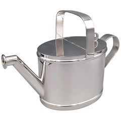 20th Century Italian Solid Silver Cruet in the Shape of a Watering Can