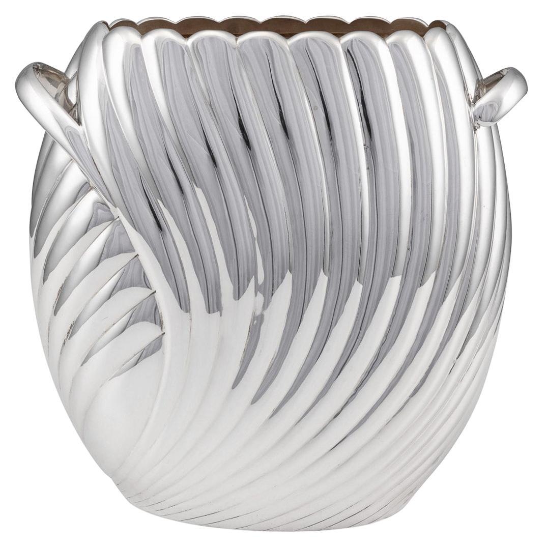 20th Century Italian Solid Silver Decorative Vase, Bedetti, Rome, c.1980
