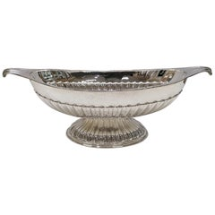 20th Century Italian Solid Silver Jatte with Handles and Base