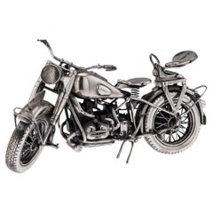 20th Century Italian Solid Silver Model of a BMW R75 Motorcycle, c.1960