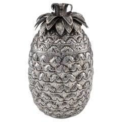 20th Century Italian Solid Silver Pineapple Ice Bucket, c.1970