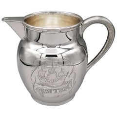 20th Century Italian Solid Silver Water Jug