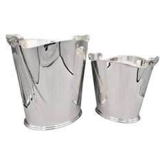 20th Century Italian Sterling Champagne and Ice Buckets Neoclassical Style