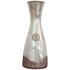 20th Century Italian Sterling Silver 800 1 Liter Bottle for Wine by Brandimarte