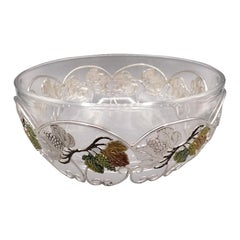 20th Century Italian Sterling Silver and Cristal Bowl