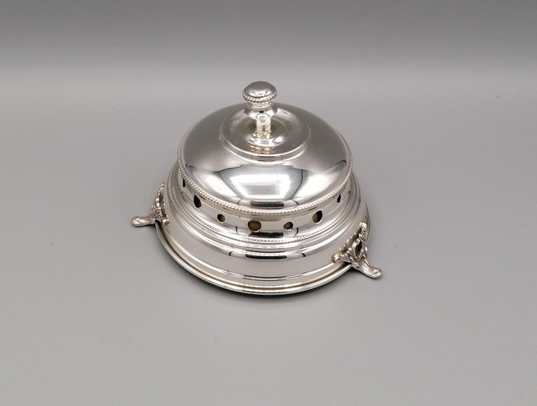 Other 20th Century Italian Sterling Silver Desk Bell For Sale
