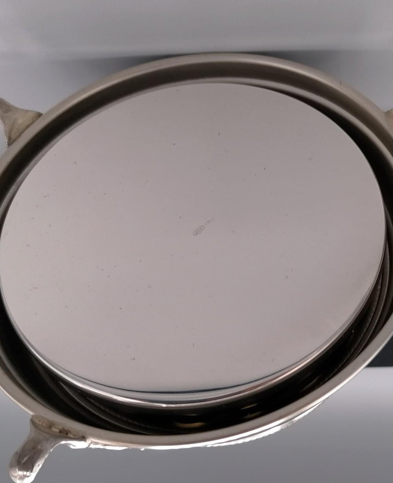 20th Century Italian Sterling Silver Desk Bell For Sale 1