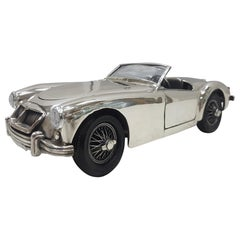 20th Century Italian Sterling Silver MG Twin Cam Car