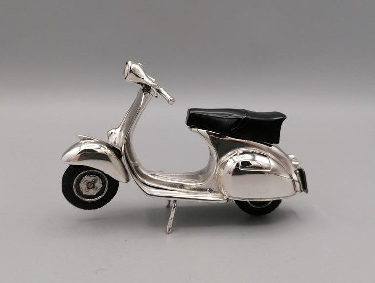 Other 20th Century Italian Sterling Silver Miniature of Vespa Piaggio GS150 For Sale