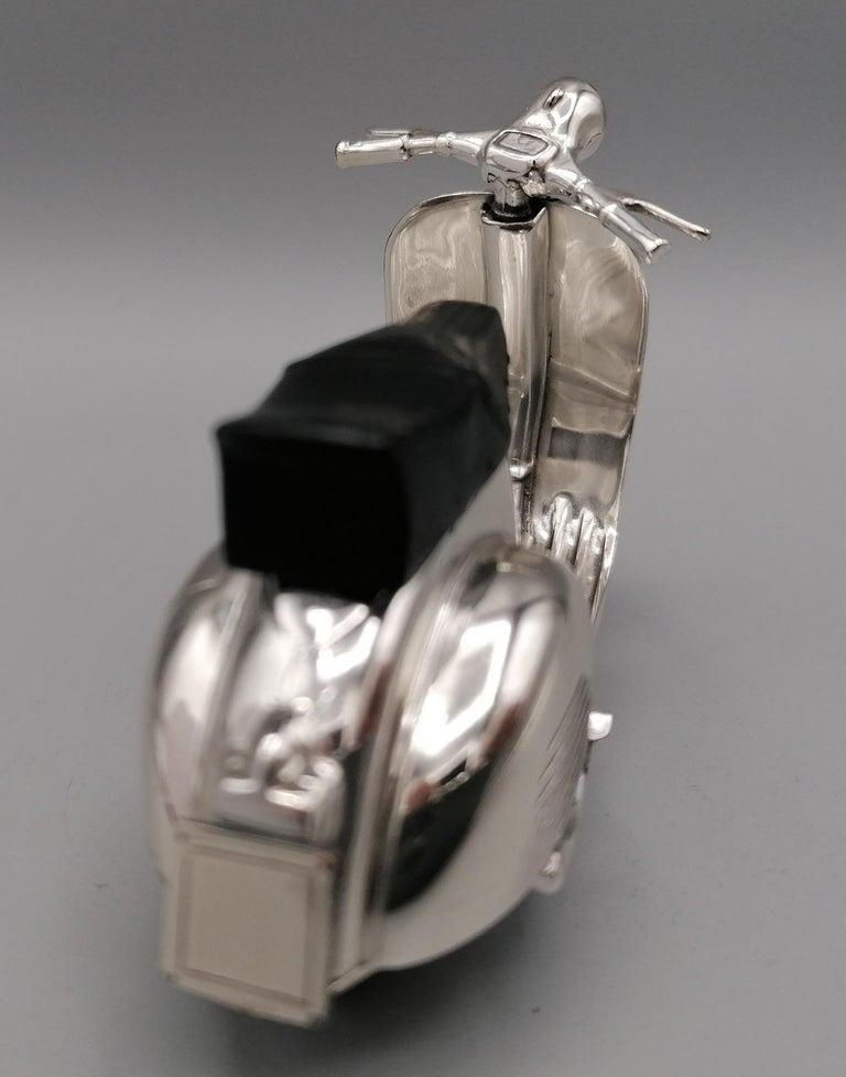 20th Century Italian Sterling Silver Miniature of Vespa Piaggio GS150 For Sale 3