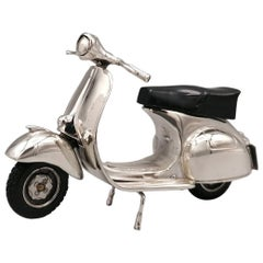 20th Century Italian Sterling Silver Miniature of Vespa Piaggio GS150