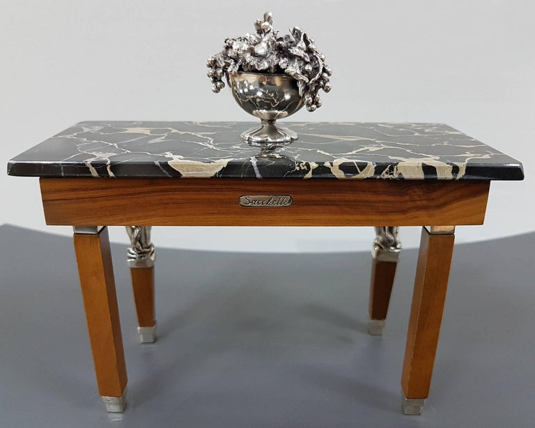 Late 20th Century 20th Century Italian Sterling Silver Miniature Tables For Sale