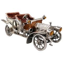 20th Century Italian Sterling Silver Model Rolls Royce Model TT Replica