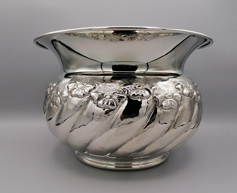Hand-Crafted 20th Century Italian Sterling Silver tochon