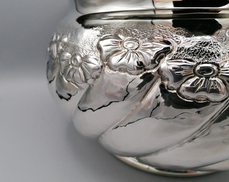 20th Century Italian Sterling Silver tochon