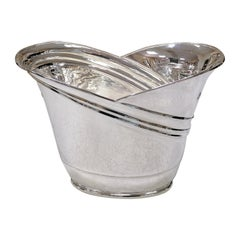 20th Century Italian Sterling Silver Two Bottles Champagne Bucket
