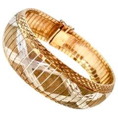 "20th Century Italian Sterling Silver & Vermeil Milor ""X"" Bracelet"