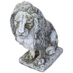 20th Century Italian Stone Garden Lion Statue