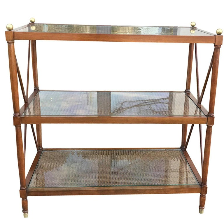 19thc english wooden three tier etagere rare scale at 1stdibs. Black Bedroom Furniture Sets. Home Design Ideas