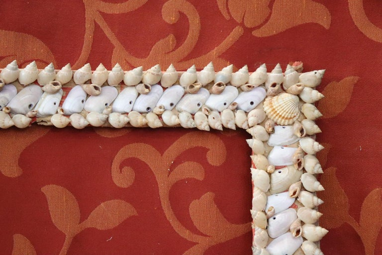 20th Century Italian Vintage Artistic Photo Frame with Shells For Sale 3