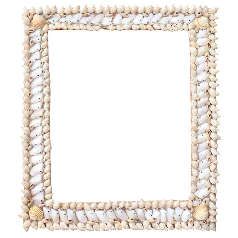 20th Century Italian Vintage Artistic Photo Frame with Shells For Sale