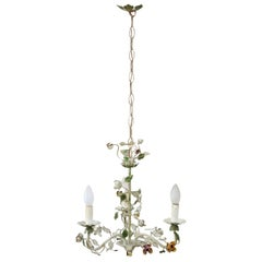 20th Century Italian Vintage Chandelier in Painted Iron