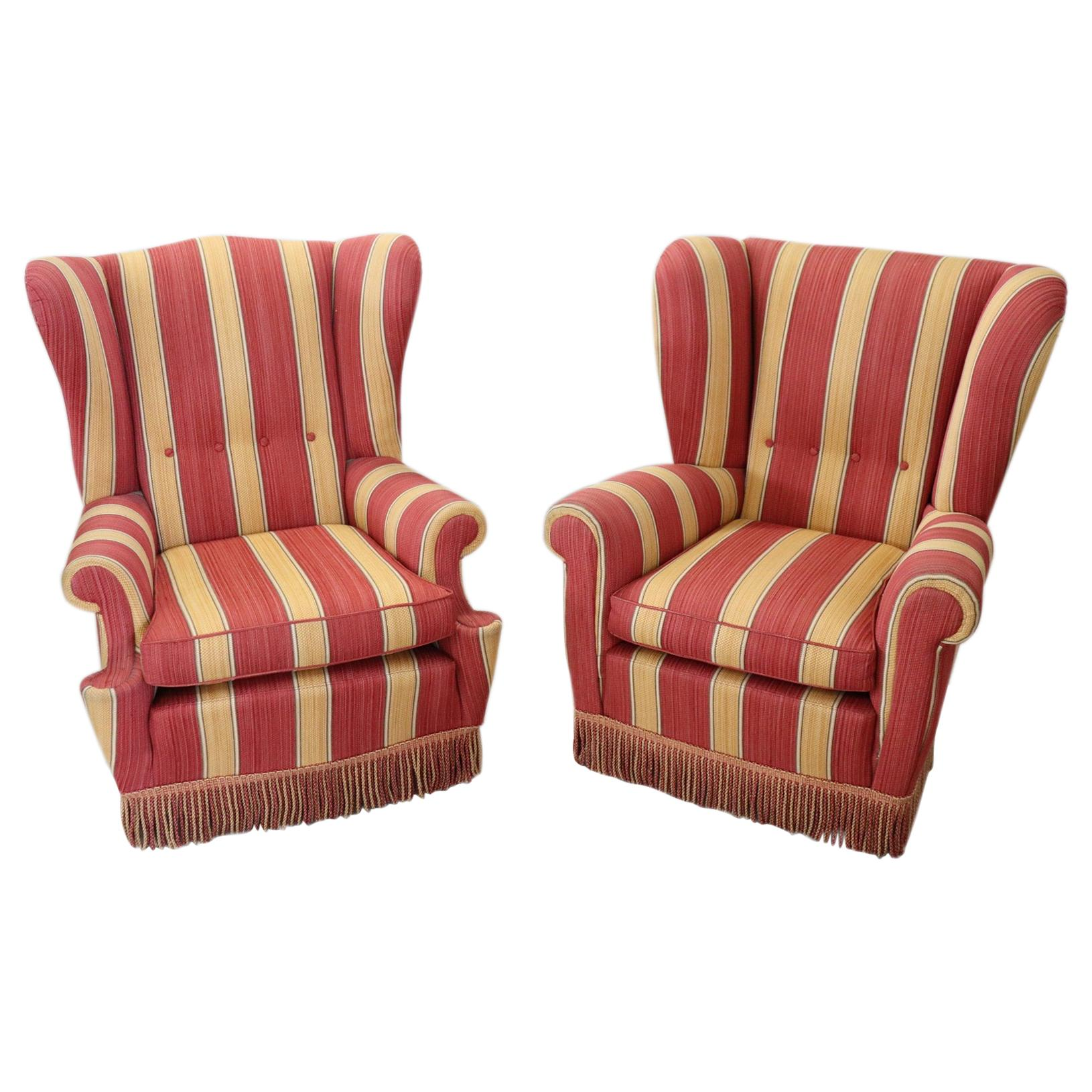 20th Century Italian Vintage Pair of Armchairs