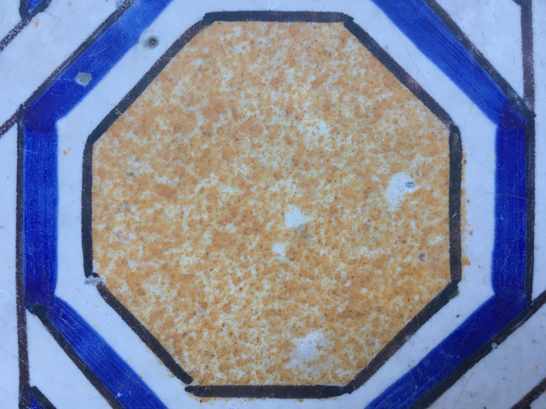 20th Century Italian Vintage Reclaimed Decorated Tiles, 1920s For Sale 2