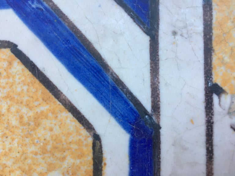 20th Century Italian Vintage Reclaimed Decorated Tiles, 1920s For Sale 3