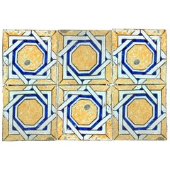 20th Century Italian Vintage Reclaimed Decorated Tiles, 1920s