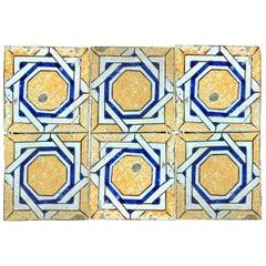 20th Century Italian Vintage Reclaimed Decorated Tiles, 1920s