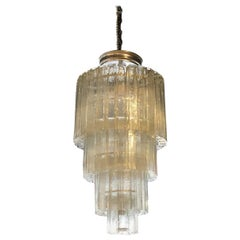 20th Century Italian Vintage Tiered Murano Glass Chandelier