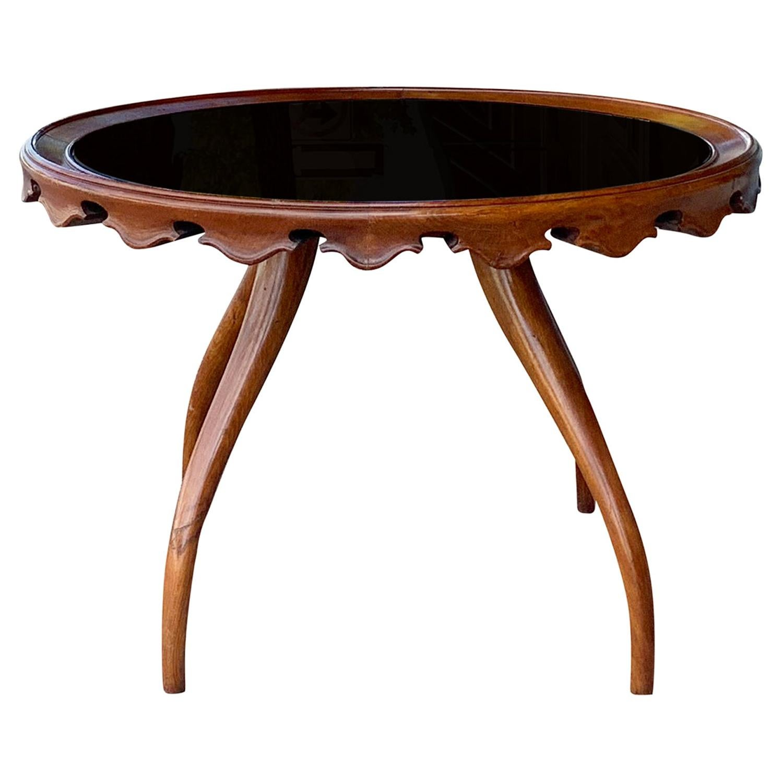 20th Century Italian Walnut Side Table by Paolo Buffa