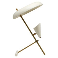 20th Century Italian White Brass Desk Lamp by Stilnovo
