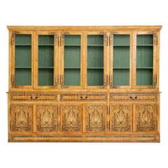 20th Century Italian Wood Cabinet with Renaissance Inspired Floral Patterns