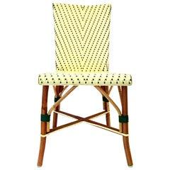 20th Century Italian Woven Rattan Bistro Chair
