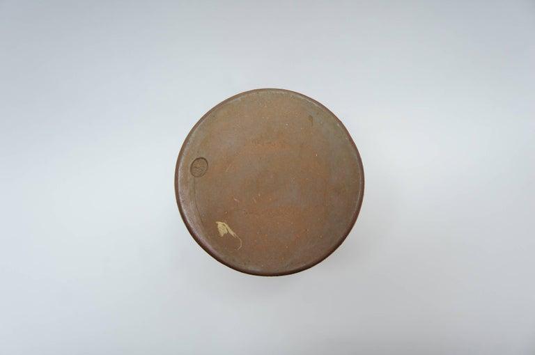 Japanese Brown Unglazed Pottery Bizen Ware Vase, 1970s For Sale 2