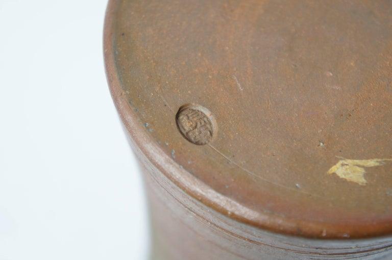 Japanese Brown Unglazed Pottery Bizen Ware Vase, 1970s For Sale 3