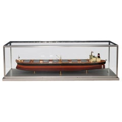 20th Century Japanese Boardroom Display Model of a Tanker, circa 1971