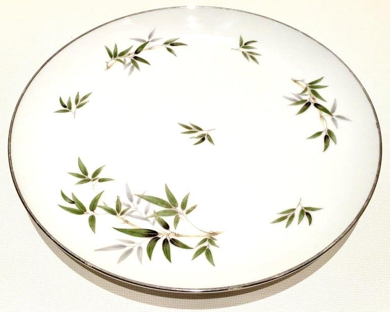Vintage Ceramic & Platinum 11 piece dinnerware set in the