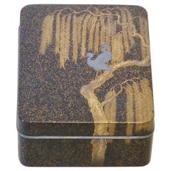 20th Century Japanese Gold and Silver Makie Box