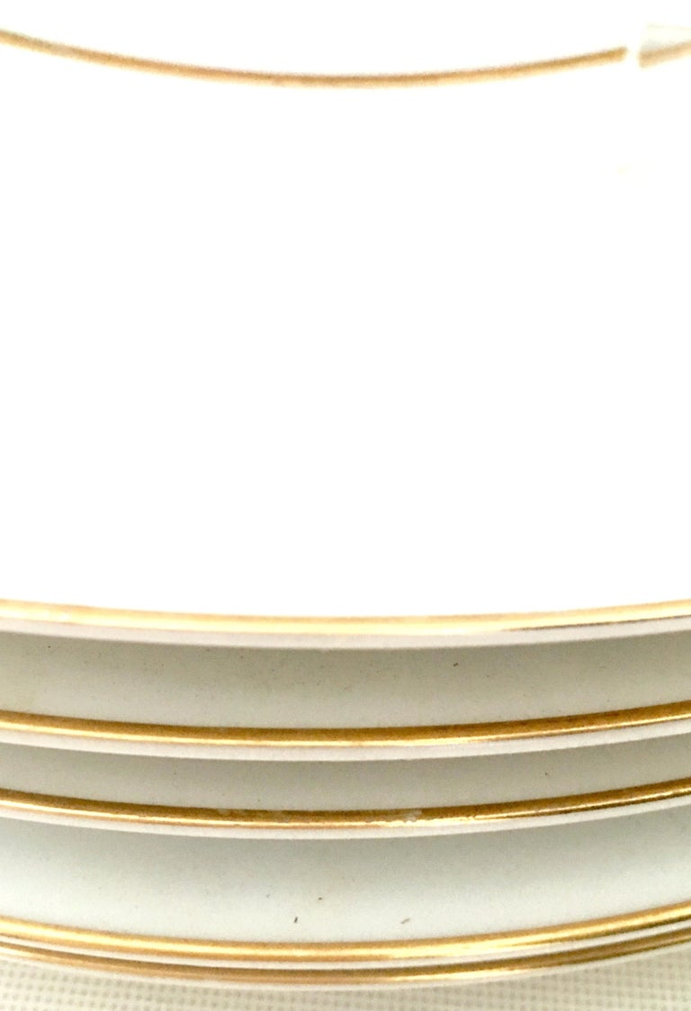 20th Century Japanese Porcelain and 22-Karat Gold Dinnerware Set of 22 by, Sango 8
