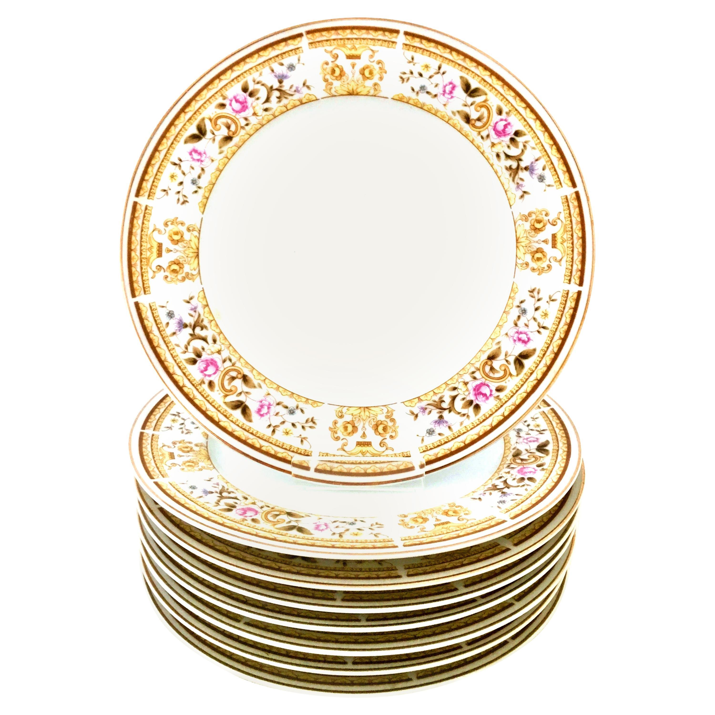 "20th Century Japanese Porcelain Dinnerware ""Daphne"" S/33, Wallace Heritage"
