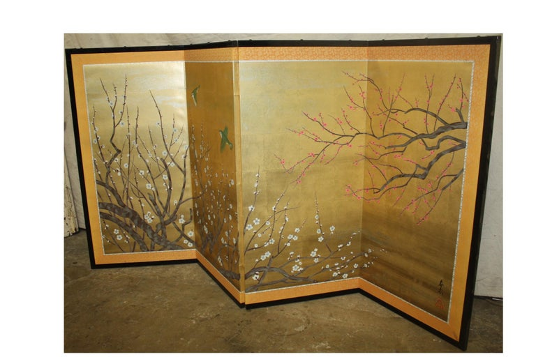 Wood 20th Century Japanese Screen For Sale
