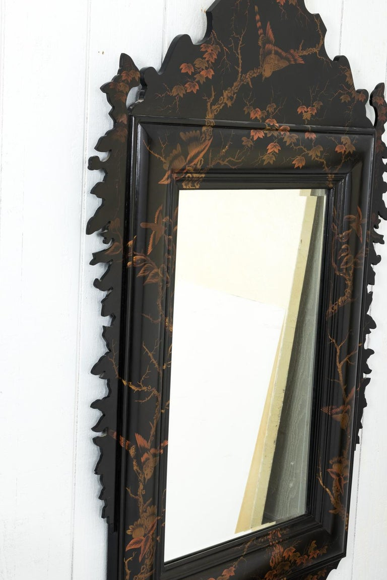 20th Century Japanned Mirror For Sale 6